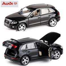Mô hình ô tô Audi Q5 bằng sắt mở cửa có đèn và âm thanh xe chạy bằng cót (pull back)