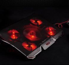 Đế tản nhiệt laptop COOD PAD Cao cấp 5 Quạt, 2 Cổng USB, Điều chỉnh tốc độ quạt