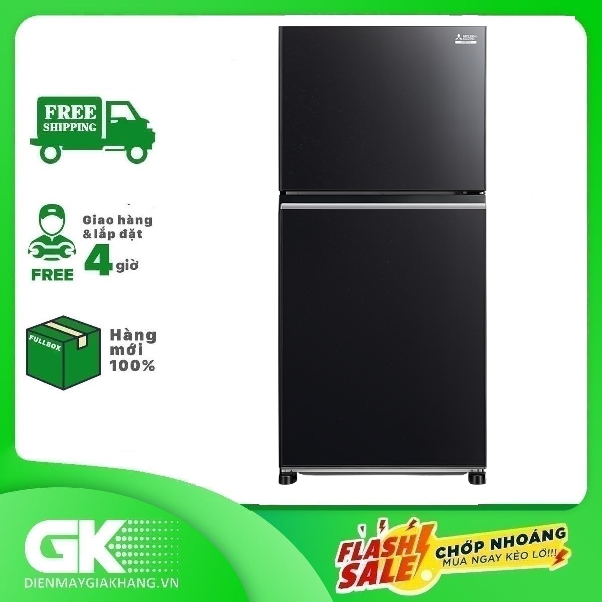 TỦ LẠNH MITSUBISHI ELECTRIC MR-FX43EN-GBK-V
