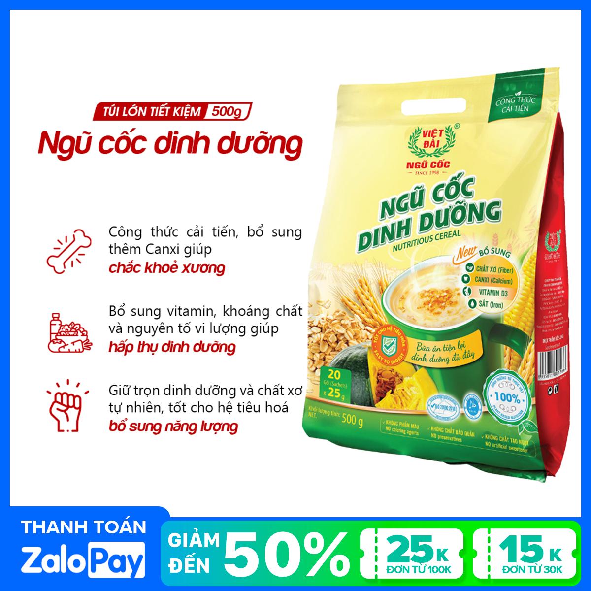 Bột ngũ cốc dinh dưỡng Việt Đài túi 500g