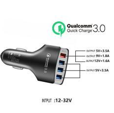 Tẩu Sạc Nhanh Ô Tô 4 cổng USB 3.5A Cốc Sạc Nhanh Quick Chagre 3.0 Xe Hơi BKS-4U Xịn Bảo Hành 12 Tháng