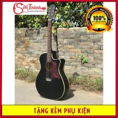 Đàn guitar acoustic có ty chỉnh cần STD85 dây kim loại, âm thanh rất vang, sáng + Bao đựng, phím gãy, sách học, dây sơ cua