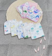 Sét 10 khăn xô sữa 2 lớp xuất Nhật loại hoa văn
