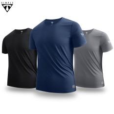 Áo Thể Thao Nam TSIMPLE tập gym ngắn tay vải thun lạnh thoáng mát, co giãn, chuẩn form Nhiều màu