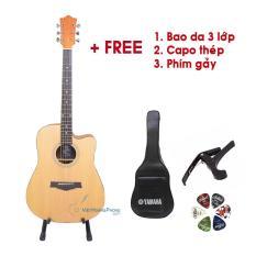 Đàn Guitar Acoustic VHP190 Gỗ Mahogany nguyên tấm (Có ty chỉnh cần) – Tặng Bao da + Capo + Phím gảy – Việt Hoàng Phong