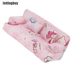 Bộ ghế sofa Jettingbuy + 2 gối hoạ tiết hoạt hình dễ thương dùng trang trí nhà búp bê – INTL