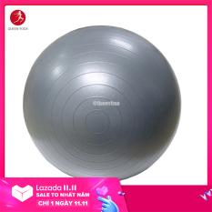 Bóng Tập Yoga-Gym Cao cấp Queen Yoga 65cm dày 2mm Chống Nổ – Tặng bơm bóng và phụ kiện – Bóng Tập Thể Dục Dùng Cho Cả Trẻ Em