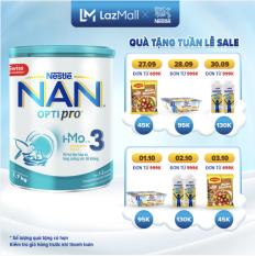 Sữa bột Nestle NAN OPTIPRO 3 HM-O 1.7Kg cho trẻ từ 1-2 tuổi (Mẫu mới) – Cam kết HSD còn ít nhất 10 tháng