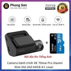 Combo Camera Hành Trình Xiaomi 70mai Dash Camera Pro , Kèm thẻ nhớ 64GB A1 – Bản Nội Địa chuyển sang Tiếng Anh