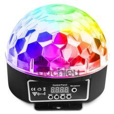 Đèn LED 7 màu vũ trường cảm ứng nhạc 18w, Đèn LED xoay 7 màu sân khấu chớp theo nhạc, Đèn nháy theo nhạc, đèn chớp 7 màu, đèn trang trí, Đèn Led karaoke, Đèn Led vũ trường, Đèn cảm ứng âm thanh