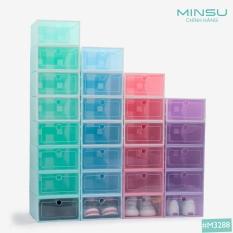 Hộp Đựng Giày Dép MINSU M3288 Nắp Bằng Nhựa Cứng Trong Suốt Là Vật Dụng, Phụ Kiện Bảo Quản Giày Dép Không Thể Thiếu
