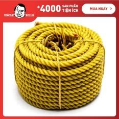 Dây thừng cuộn UBL 12m HY0002 đường kính 6mm, chất liệu dây nhựa PE độ bền cao, dùng để buộc, cột hàng hóa, vật dụng