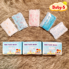 [HCM]Set 10 khẩu trang y tế 3 lớp kháng khuẩn cho trẻ em từ 2-7 tuổi nhiều họa tiết và màu sắc đáng yêu Baby-S – SM013