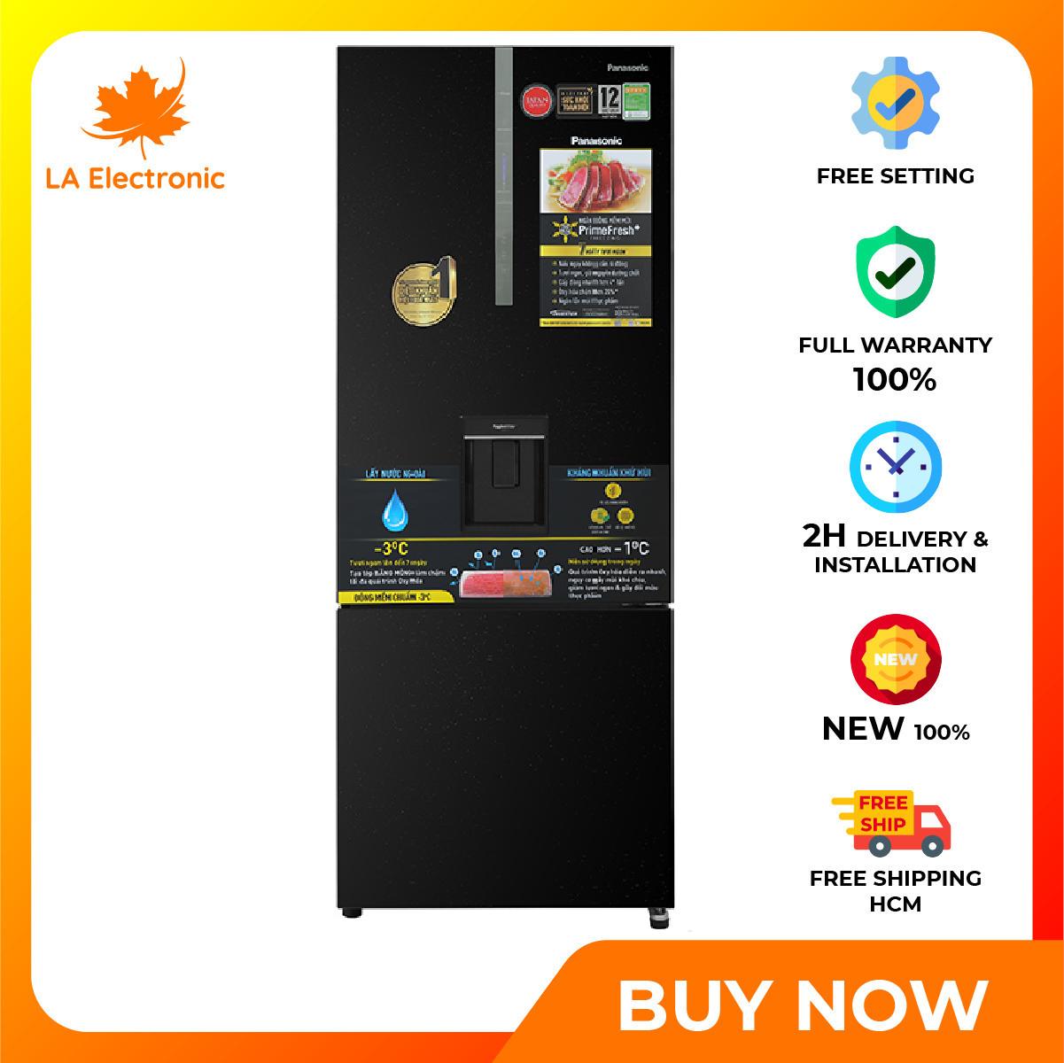 Trả Góp 0% – Tủ lạnh Panasonic Inverter 377 lít NR-BX421GPKV Mới 2021 – Miễn phí vận chuyển HCM