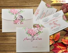 50 thiệp cưới TCH-911 (Đã bao gồm nội dung in). Vui lòng cung cấp nội dung in sau khi đặt hàng.