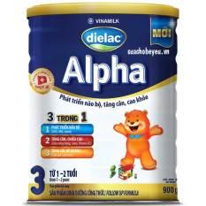 Sữa Bột Dielac Alpha 3 900g (Cho trẻ từ 1-2 tuổi)