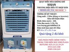 Quạt điều hòa hơi nước SOJAN model: HS35A/YH302F-1 KÍNH Model: 2021 CAM KẾT 100% ĐỘNG CƠ ĐỒNG