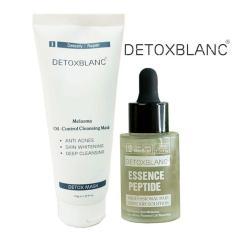 Combo Serum trị nám tàn nhang Và Mặt nạ sủi bọt Detox BlanC