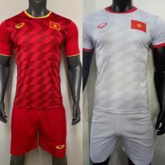 Bộ quần áo đá bóng, đá banh thi đấu VIỆT NAM 2019-20 màu đỏ, trắng ĐỒ TẬP TỐT
