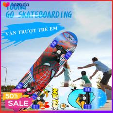 Ván trượt trẻ em Skateboard cho trẻ từ 2- 6 tuổi, thiết kế chắc chắn, giúp bé rèn luyện sức khỏe