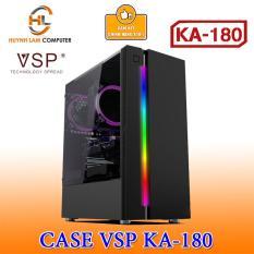 Thùng Máy Tính Case VSP KA – 180 Đen Kính Cường Lực