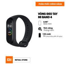 [Hàng chính hãng] Vòng đeo tay thông minh Xiaomi Mi Band 4 – Màn hình AMOLED 0.95 inch – 6 chế độ tập luyện – Hỗ trợ tiếng Việt – Chống nước 50m