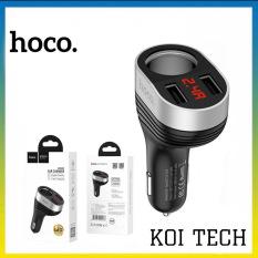 Tẩu sạc oto hoco Z29 – củ sạc 2 cổng 2.4A có đèn led hiển thị – tẩu sạc nhanh cho oto