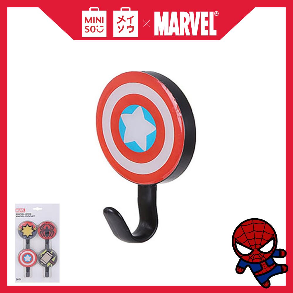Móc dán tường Miniso Marvel tròn 100g (Gói 4 móc)
