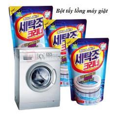 Bột tẩy lồng máy giặt-bột vệ sinh máy giặt hàn quốc gói 450g, Gói bôt vệ sinh máy giặt, Bột tẩy lồng máy giặt cửa ngang, Huy Tuấn