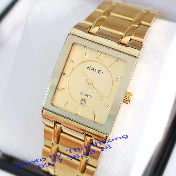 Đồng hồ nam HALEI TL5564M – Đồng hồ mặt chữ nhật lịch theo dõi ngày đẳng cấp quý ông lịch lãm dây thép không gỉ cao cấp