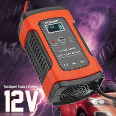 Sạc bình ắc quy 12V 100Ah Foxsur Kèm chức năng khử sunfat phục hồi bình, sạc được cả bình khô và nước thông minh tự ngắt khi đầy(Cam) bộ sạc pin ắc quy, kich dien 12v