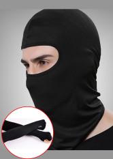 combo Khăn trùm đầu Ninja Fullface + Găng Tay Chống Nắng Xỏ Ngón màu đen