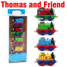 Mô hình xe tàu hỏa Thomas and Friend mini bộ 4 chiếc Đồ chơi trẻ em mô hình bằng sắt tỉ lệ 1:64