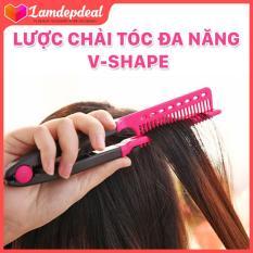 Lamdepdeal – Lược chải tóc đa năng V-Shape – duỗi thằng – uốn cúp – phồng tóc 3in1 -Dụng cụ làm tóc
