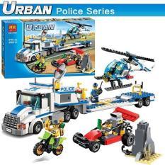 Bộ xếp hình City Police – Xe lưu động cảnh sát chở trực thăng giám sát