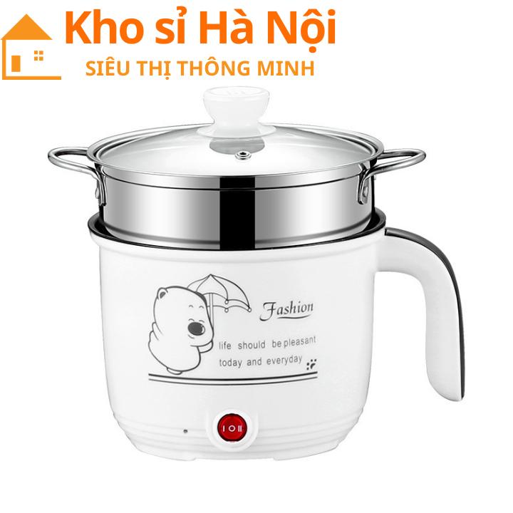 Ca Mì 18cm Có Giá Hấp INOX Cooking Pot – Ca Nấu Mì Có Lồng Hấp 2 In 1 Siêu Tốc Tiện Lợi,Ca Nấu Mì,Nồi Lẩu Mini,Ca Mì, Nồi Lấu Mì,Nồi Hấp Mini