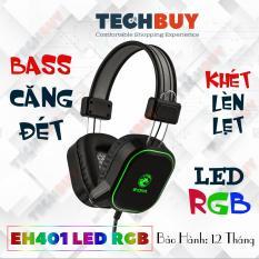 Tai nghe chơi game có Mic E-Dra EH401 RGB Led Bass căng I Head phone Gmaing E-Dra EH401 RGB LED