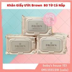 Khăn Ướt Brown Original Plus Hàn Quốc 80 Miếng Không Nắp