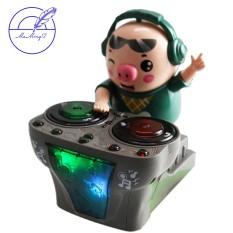 Heo Phát Nhạc – Chú Heo Chơi DJ Năng Động Siêu Dễ Thương Nhảy Theo Nhạc Và Đèn Cho Bé