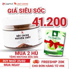 [MUA 2 TẶNG MATCHA SỮA] Cacao nguyên chất không đường pha chế thức uống Light Cacao tốt cho sức khỏe – hũ 150g