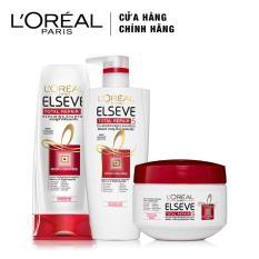 Bộ sản phẩm chăm sóc tóc chống 5 dấu hiệu hư tổn 3 bước L'Oreal Paris Total Repair 5