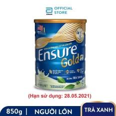 [GIẢM 40K ĐƠN 1,2TR] Lon sữa bột Ensure Gold Trà Xanh 850g (Hạn sử dụng: 28.05.2021) – Giới hạn 5 sản phẩm/khách hàng