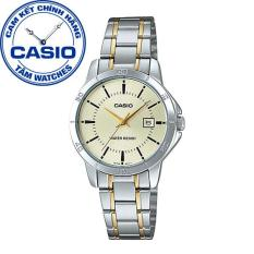 Đồng hồ nữ dây thép không gỉ Casio Standard Anh Khuê LTP-V004SG-9AUDF