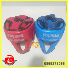 nón vovinam bảo hộ thi đấu đối kháng – 2 cái: xanh và đỏ