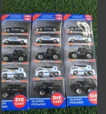 Set 5 xe cảnh sát mini đồ chơi ô tô trẻ em