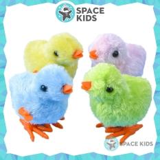 Đồ chơi gà con vặn dây cót cho bé, Đồ chơi trẻ em vận động Space Kids, chất liệu nhựa ABS
