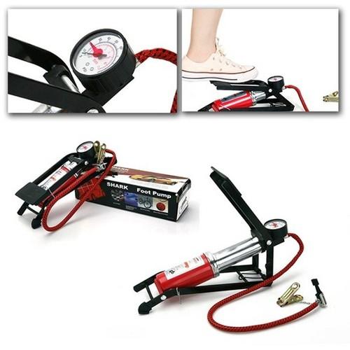 Bơm đạp chân mini dùng cho xe đạp, xe máy, ô tô