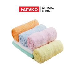 Khăn mặt HANVICO 100% cotton mềm mại, thấm hút tốt chuẩn 5 sao