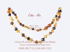 Vòng cổ hổ phách cho bé Ambre Bebe – France – Màu Mix multicolor