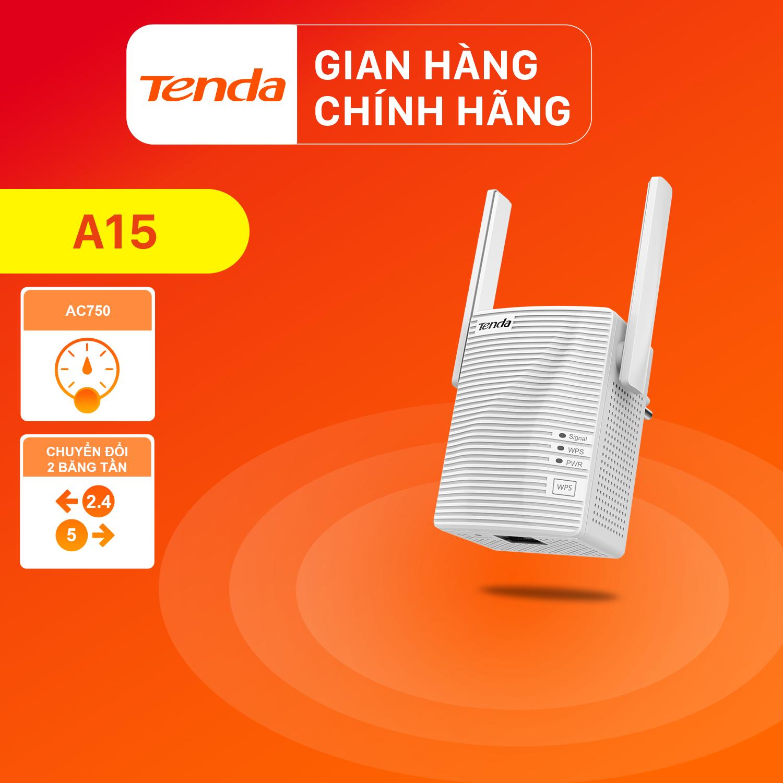 Tenda Bộ kích sóng Wifi A15 Chuẩn AC 750Mbps – Hãng phân phối chính thức